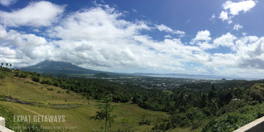 Looking over Legazpi and Mt Mayon volcano