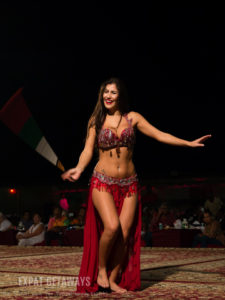 Some belly dancing to entertain the crowd.