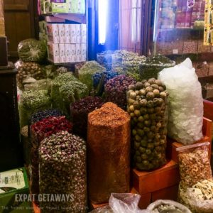 Exploring the spice souk.