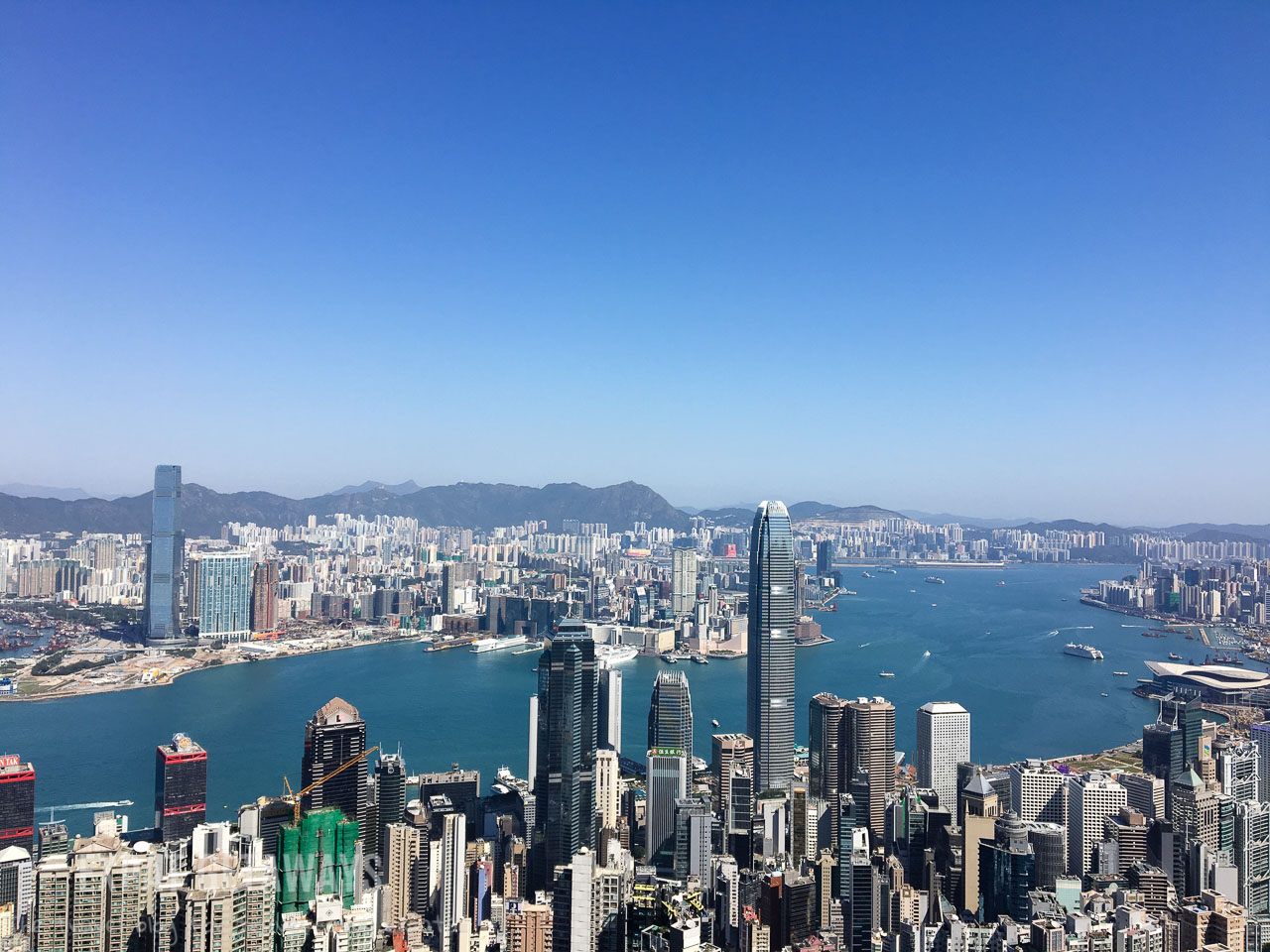 The view from Victoria Peak is spectacular