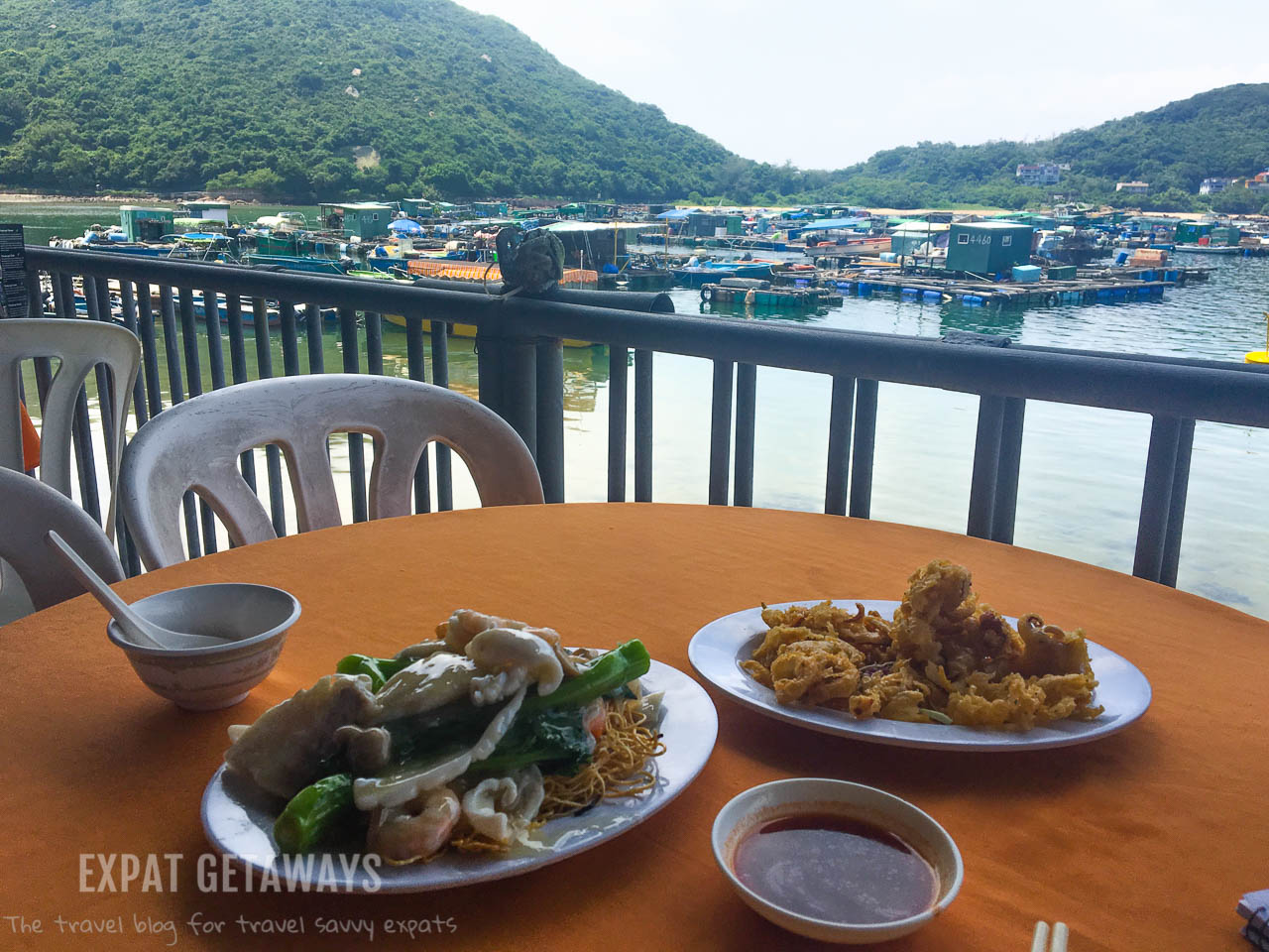 A delicious seafood lunch on Lamma Island