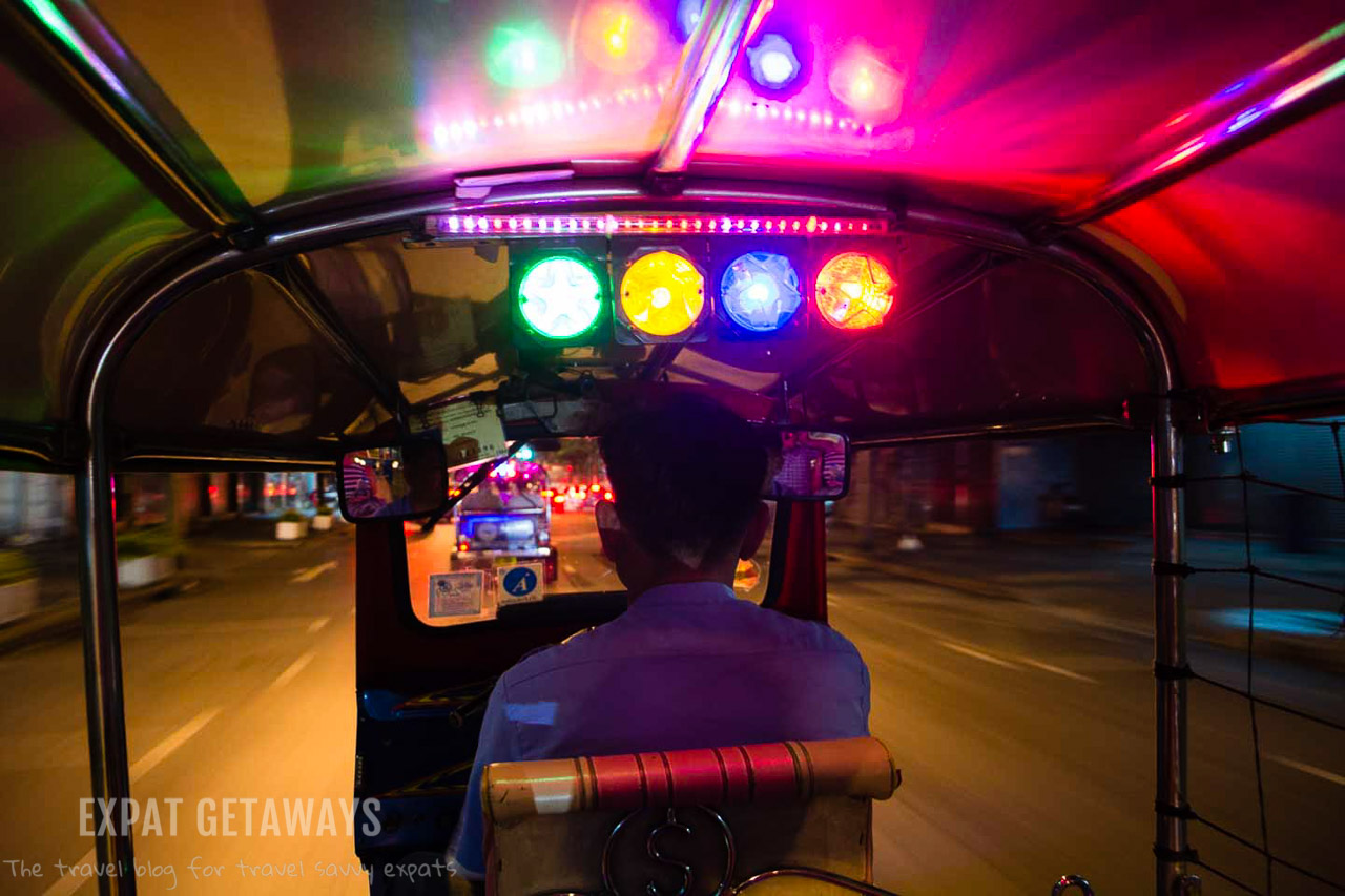 Take to the streets in a Tuk Tuk on a Midnight Food Tour.